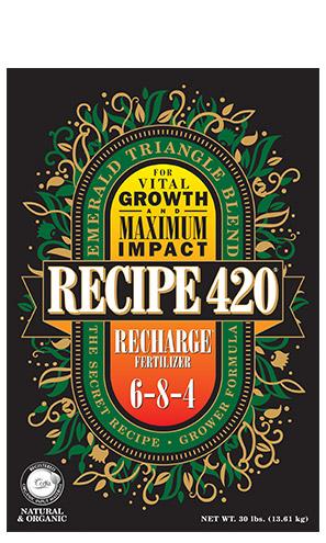 RECIPE 420 RECHARGE FERTILIZER – Now Available!